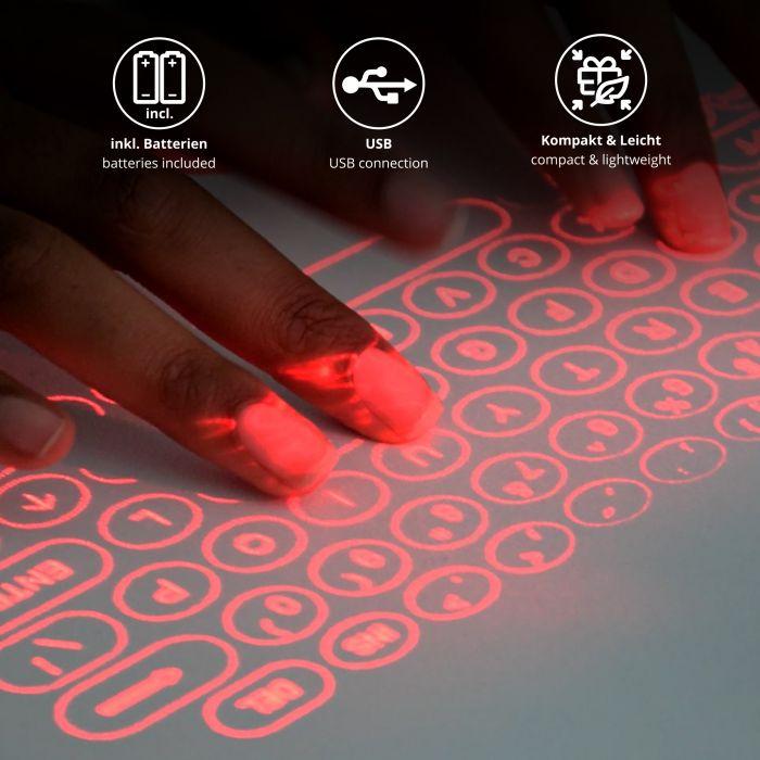 Laser Tastatur - 3in1 Powerbank mit Lautsprecher