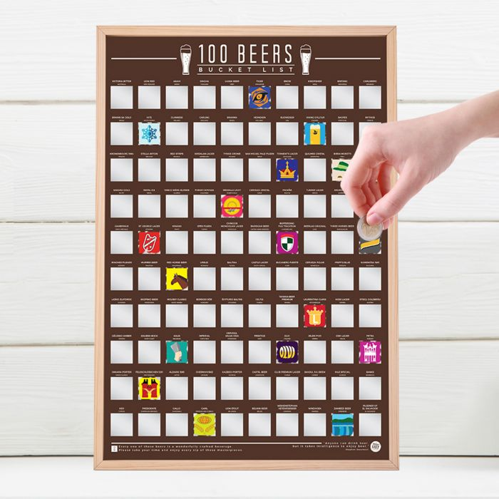 Ausgefallenspezielles - Scratch Map Beer Bucket List - Onlineshop Monsterzeug