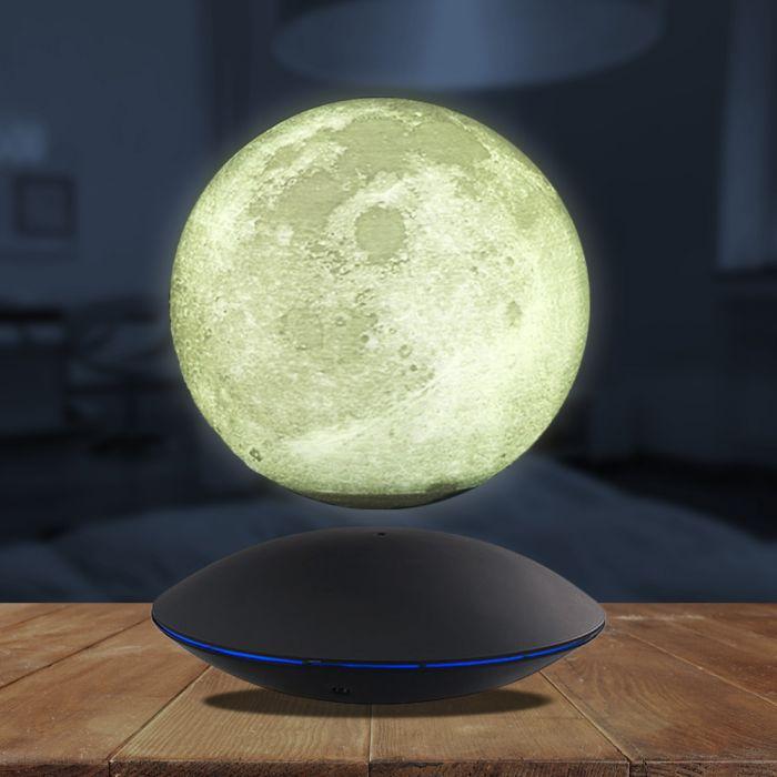 Ausgefallenkleineaufmerksamkeiten - Schwebender Mond mit elektromagnetischer Basis - Onlineshop Monsterzeug