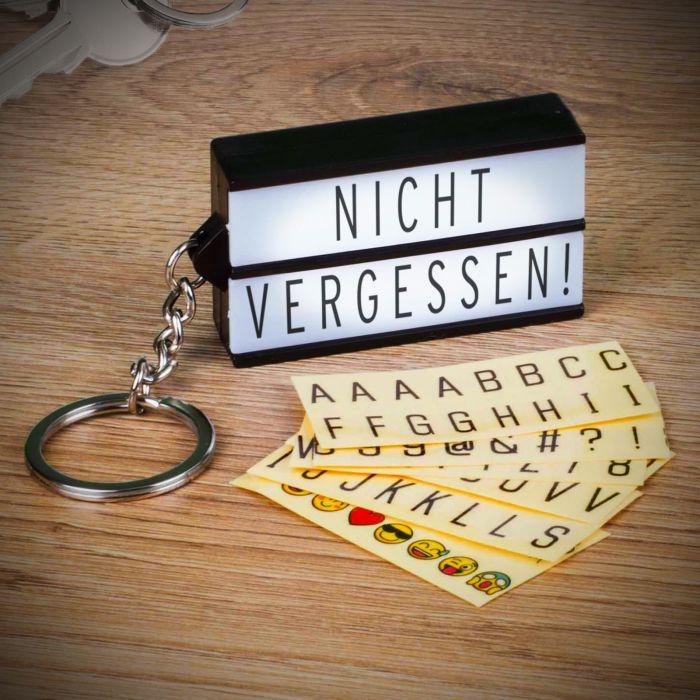 Ausgefallenromantisches - Schlsselanhnger Mini LED Light Box - Onlineshop Monsterzeug