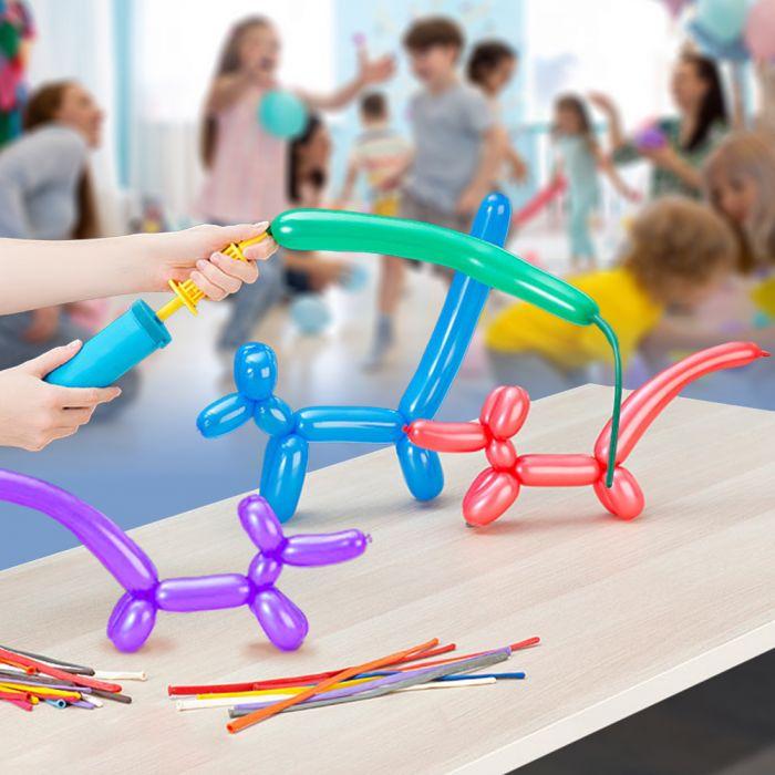 - Modellier Ballon Set 100 Ballons mit Pumpe - Onlineshop Monsterzeug