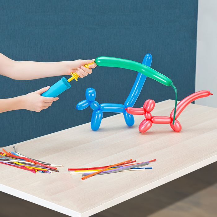 Modellier Ballon Set - 100 Ballons mit Pumpe