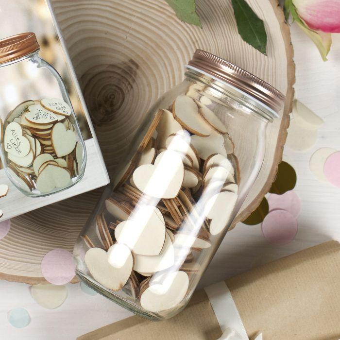 Hochzeitsgästebuch - Wunschglas