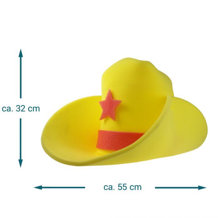 XXL Cowboyhut - gelb