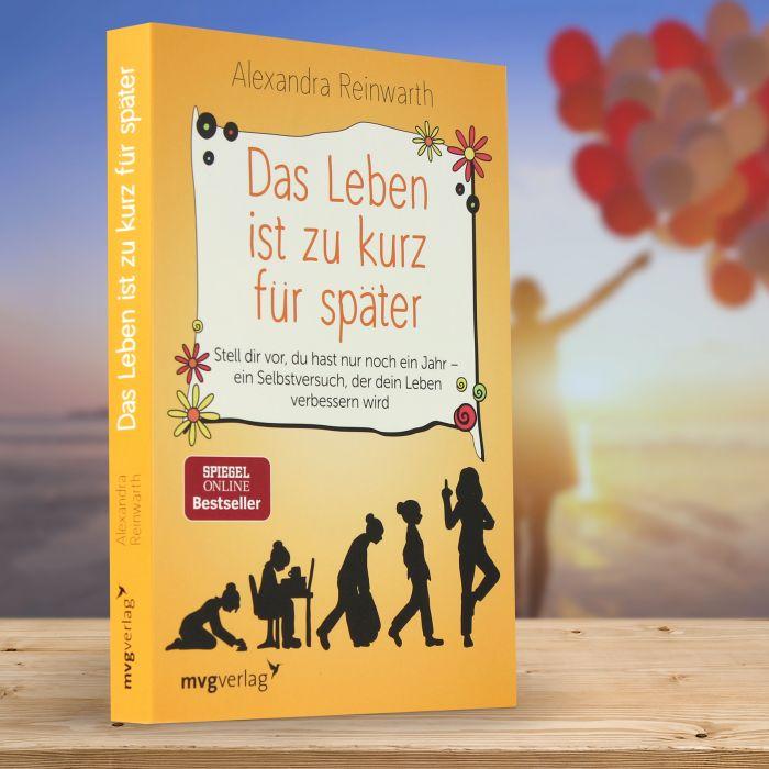 Ausgefallenkleineaufmerksamkeiten - Buch Das Leben ist zu kurz fr spter - Onlineshop Monsterzeug