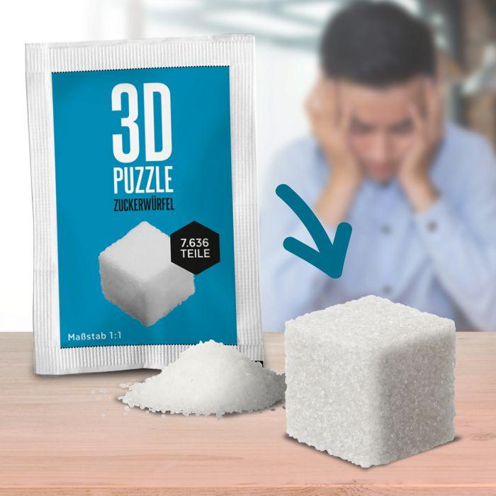 Ausgefallenkreatives - 3D Puzzle Zuckerwrfel - Onlineshop Monsterzeug