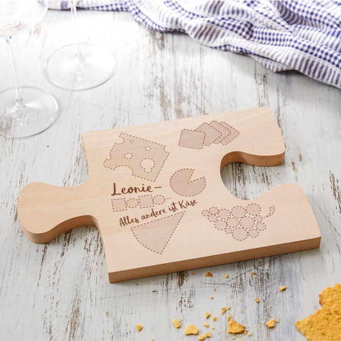 Personalisiertes Puzzle Brettchen - Käse