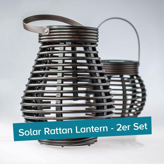 LED Solarleuchten - Laternen 2er Set