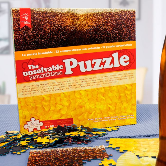 Ausgefallenkreatives - Das unlsbare Puzzle Chips und Cola - Onlineshop Monsterzeug