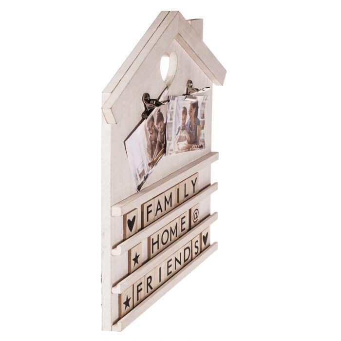 Letter Board Deko Holzhaus - weiß