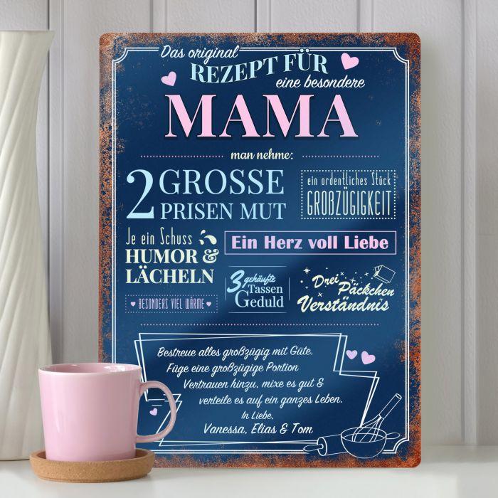 - Personalisiertes Blechschild Rezept Mama - Onlineshop Monsterzeug