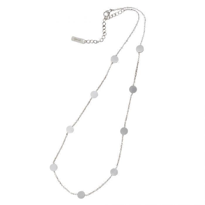 Layering Kette mit Plättchen - Silber