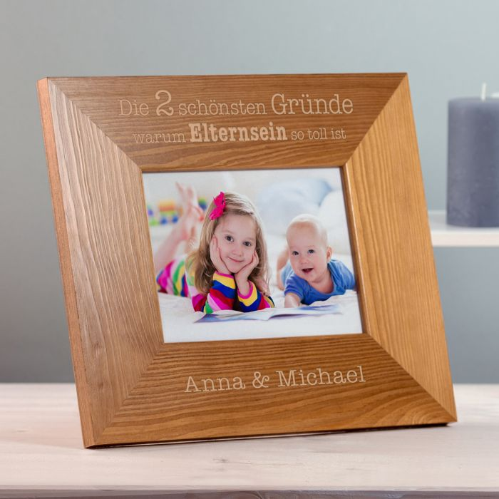 Individuellwohnzubehör - Personalisierter Bilderrahmen Warum Elternsein so toll ist - Onlineshop Monsterzeug