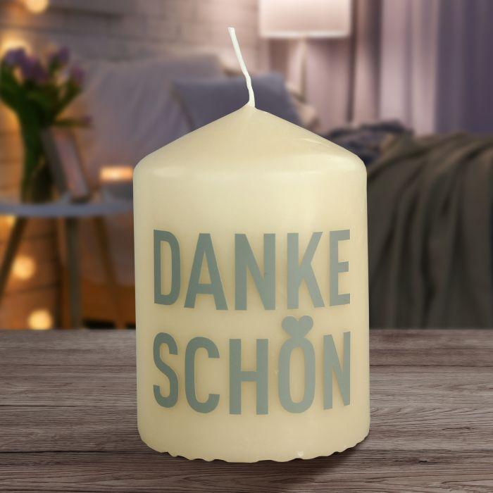 Kerze - Dankeschön