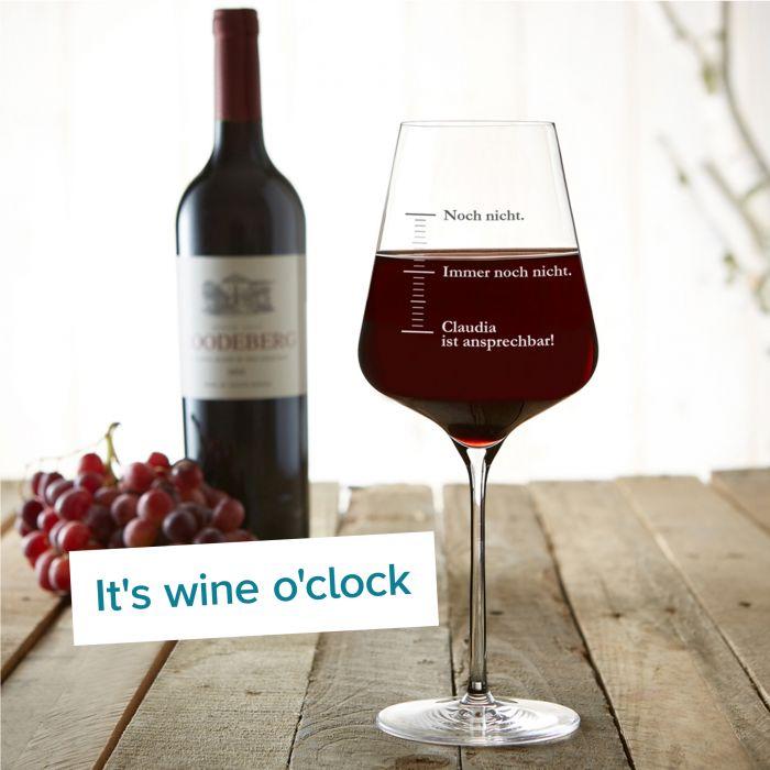 Weinglas mit Gravur - Nicht ansprechen