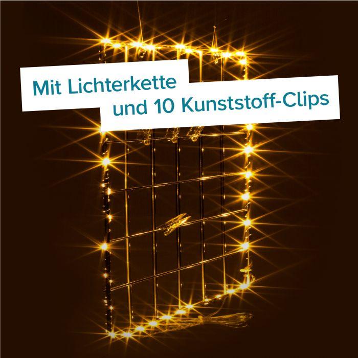 Metall Wandgitter mit LED-Beleuchtung