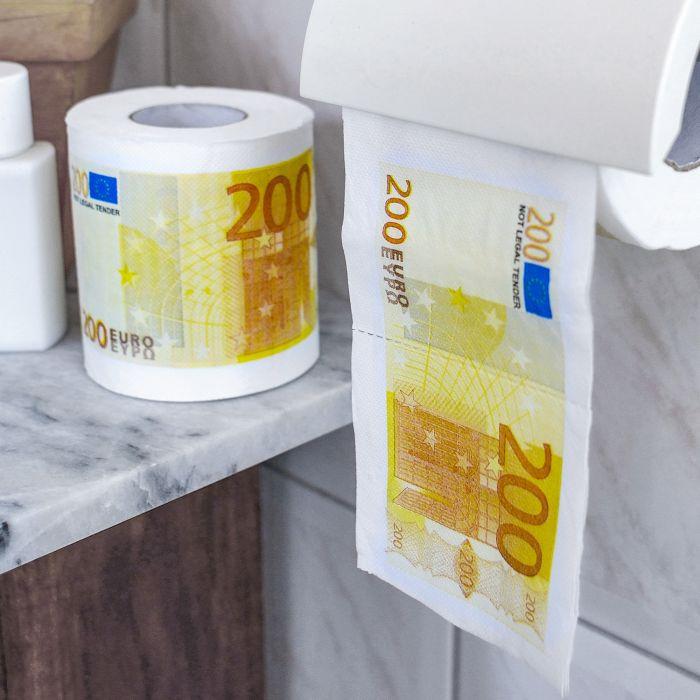 Partybedarfpartydeko - Geld Toilettenpapier 200 Euro 2er Set - Onlineshop Monsterzeug