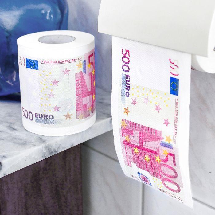 Partybedarfpartydeko - Geld Toilettenpapier 500 Euro 2er Set - Onlineshop Monsterzeug