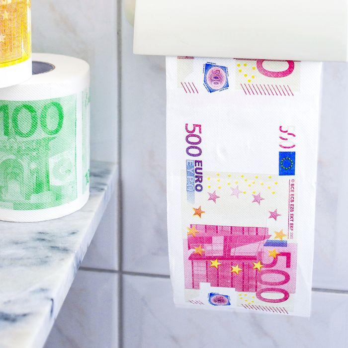 Geld Toilettenpapier - 500 Euro - 2er Set