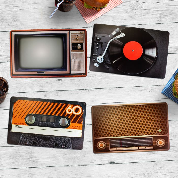 - Tischset im Vintage Look 4 teilig - Onlineshop Monsterzeug