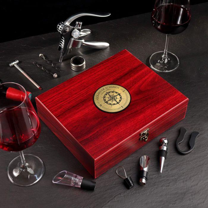 - Wein Sommelier Set mit Kompass Gravur - Onlineshop Monsterzeug