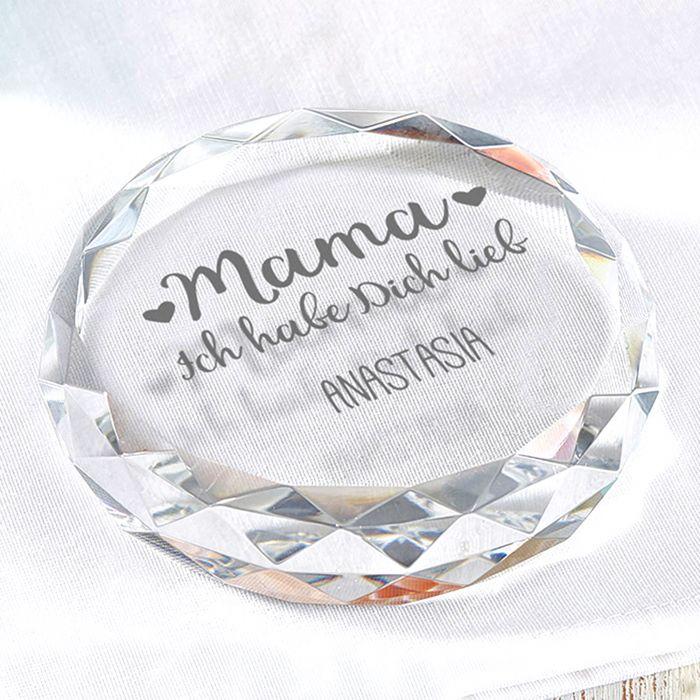 - Kristall mit Gravur fr Mama - Onlineshop Monsterzeug