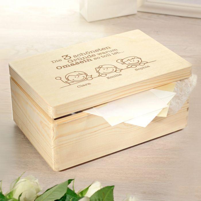 - Memory Box mit Gravur Warum Omasein so toll ist - Onlineshop Monsterzeug