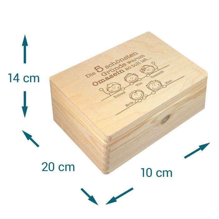 Memory Box mit Gravur - Warum Omasein so toll ist