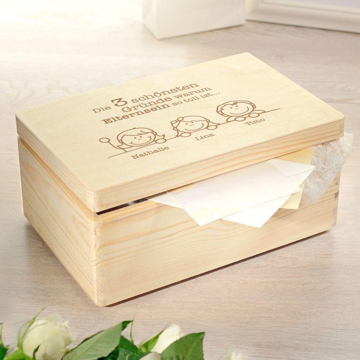 - Memory Box mit Gravur Warum Elternsein so toll ist - Onlineshop Monsterzeug