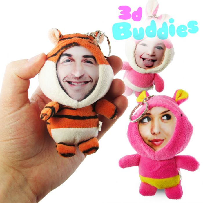 3D Foto-Puppen Schlüsselanhänger
