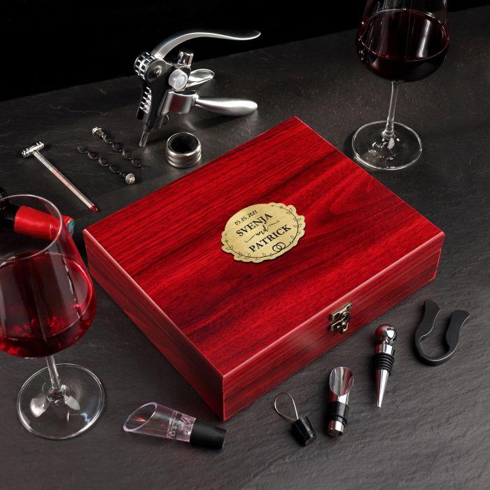 - Wein Sommelier Set mit Gravur zur Hochzeit Ringe - Onlineshop Monsterzeug