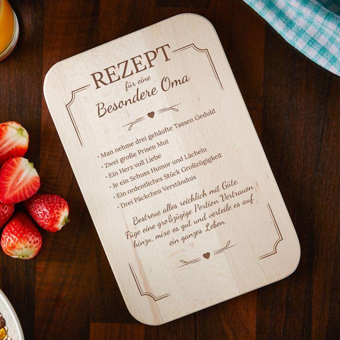 - Frhstcksbrettchen mit Gravur fr Oma Rezept - Onlineshop Monsterzeug