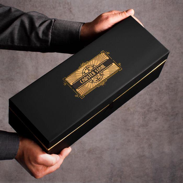 Whisky Set in edler Geschenkbox - Kompass Gravur