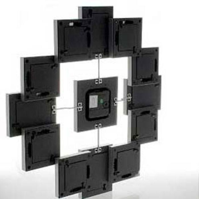 Bilderrahmen mit Uhr - originelle Wanduhr mit Fotorahmen