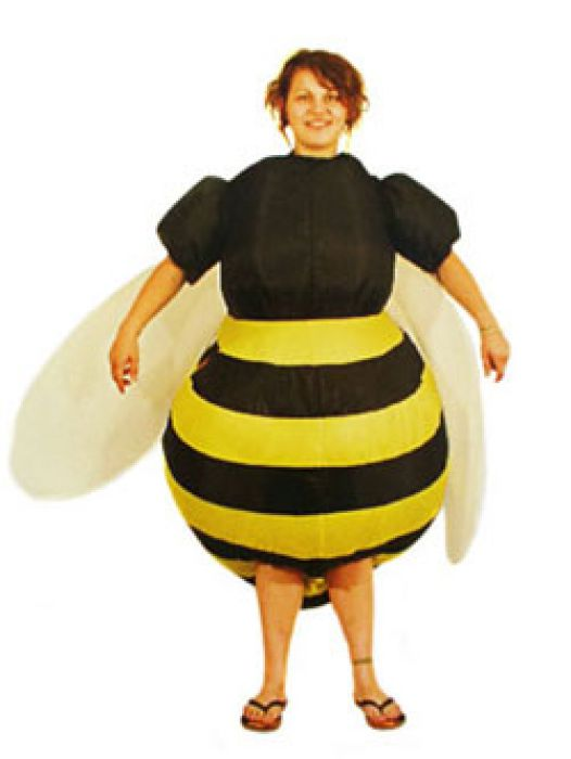 Faschingskostum Biene Selbstaufblasender Bienenkostum