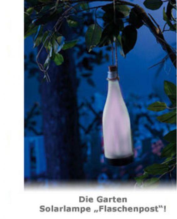 Garten Solarlampe Flaschenpost