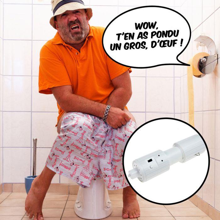 Rouleau de papier toilette parlant