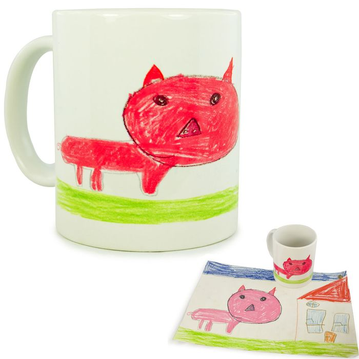 Tasse avec dessin enfant