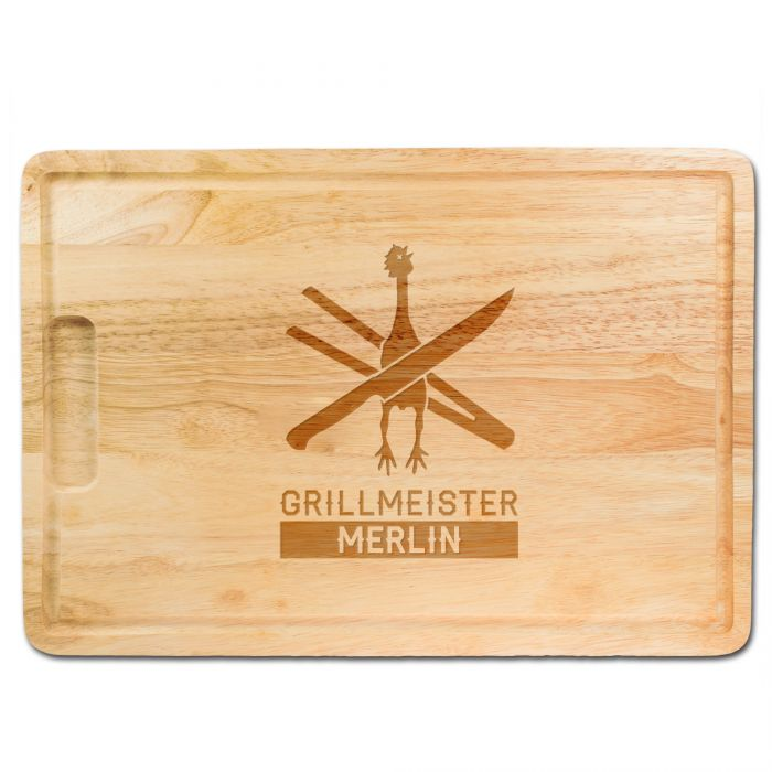 Grillmeister - graviertes Schneidebrett