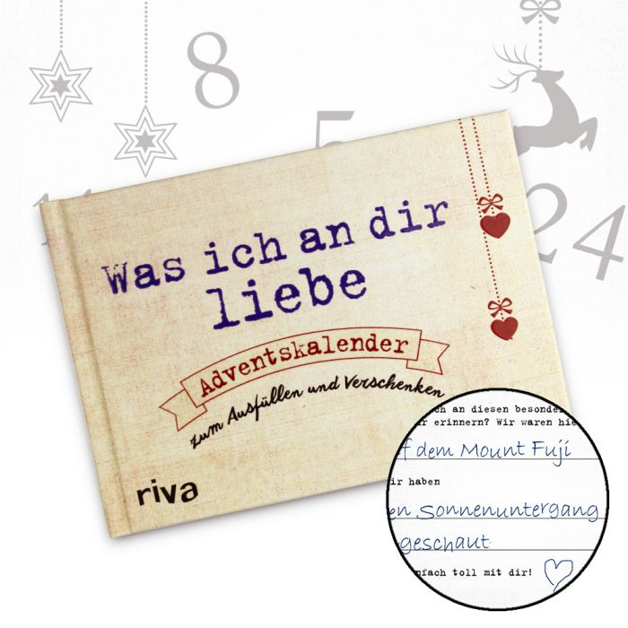 Buch adventskalender zum ausf llen was ich an dir liebe - Weihnachtsgeschenk ehefrau ...