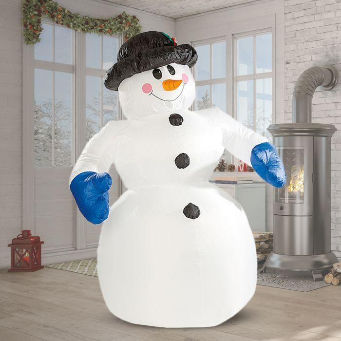 Aufblasbarer Schneemann XXL - 240 cm selbstaufblasend