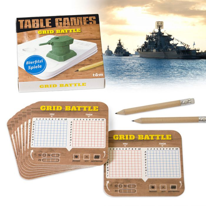 coole bierdeckel spiele grid battle. Black Bedroom Furniture Sets. Home Design Ideas