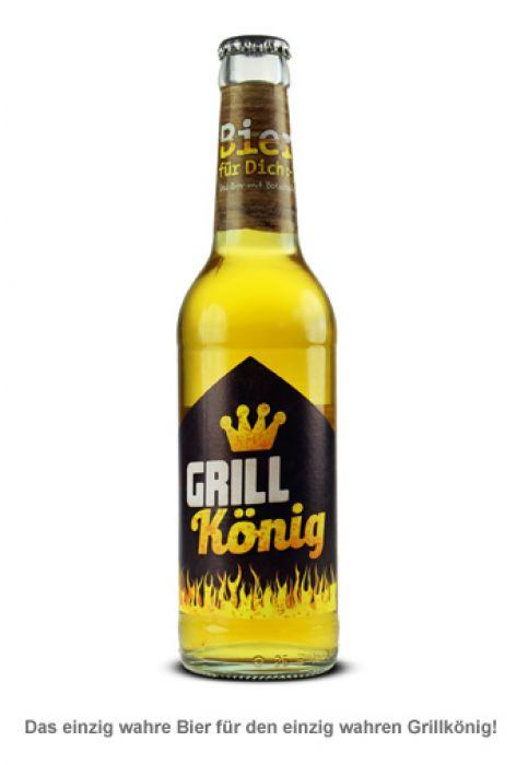 Bierflasche 0,33 l - Grillkönig