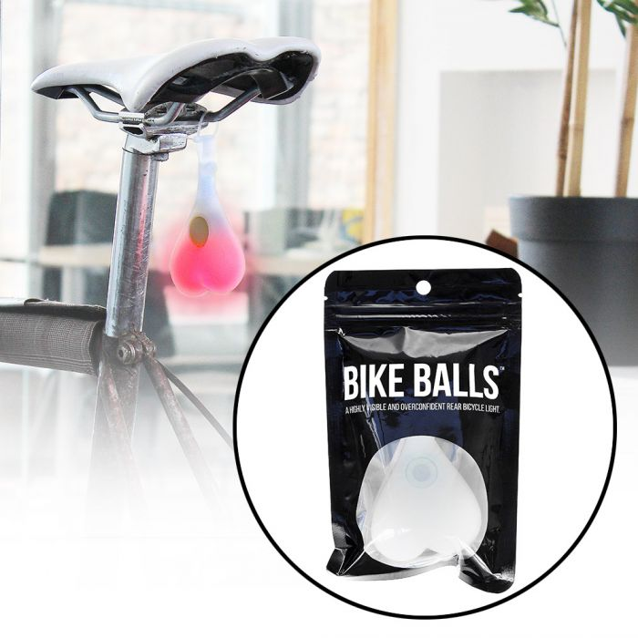 bike balls lustige led fahrradbeleuchtung r cklicht als eier. Black Bedroom Furniture Sets. Home Design Ideas