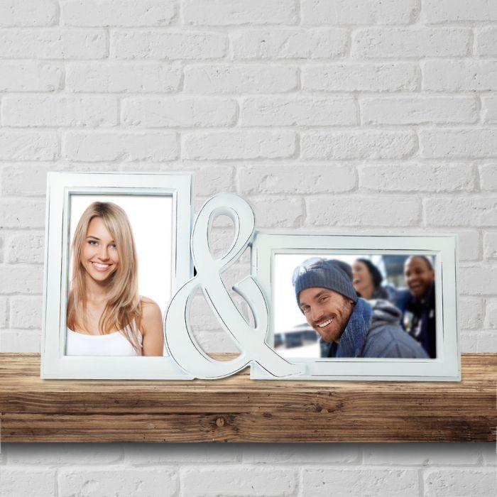 Bilderrahmen für Paare - Du & Ich - süßes Liebessymbol im Rahmen