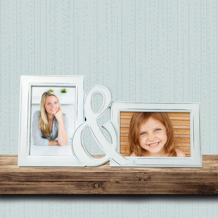 Bilderrahmen - Mama & Ich - 2er Fotorahmen als Geschenk - 15x10cm