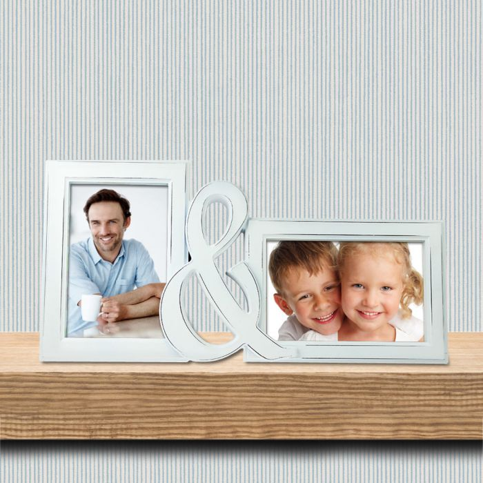 Bilderrahmen - Papa & Ich - 2er Fotorahmen als Geschenk - 15x10cm