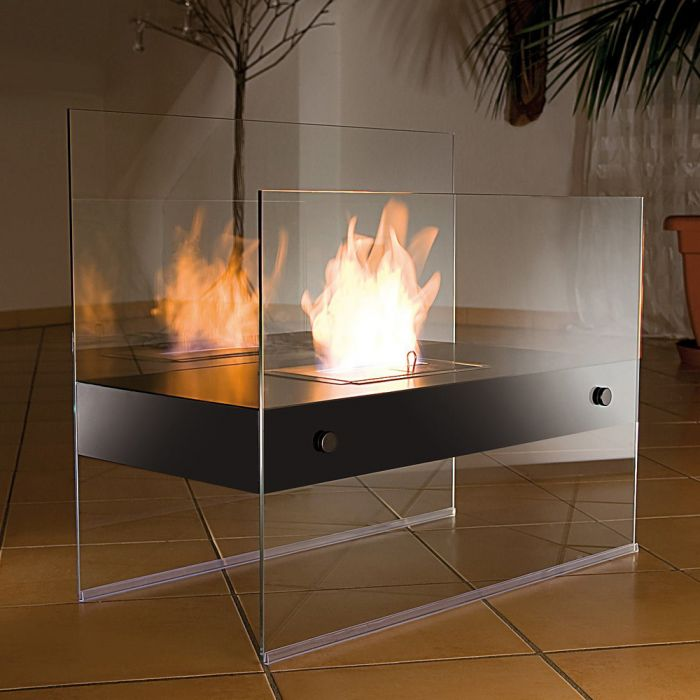 bioethanol kamin aus glas deluxe ohne abzug und qualm. Black Bedroom Furniture Sets. Home Design Ideas