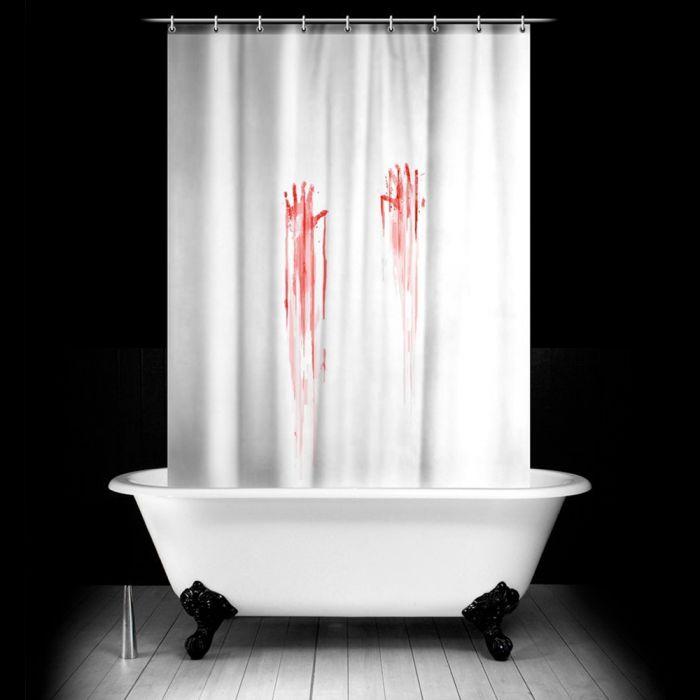 Blutbad Duschvorhang - Vorhang mit blutigem Aufdruck