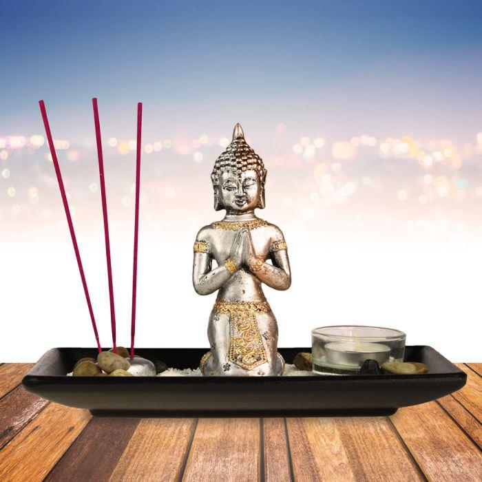Ausgefallenkleineaufmerksamkeiten - Buddha Deko Set mit Kerze - Onlineshop Monsterzeug